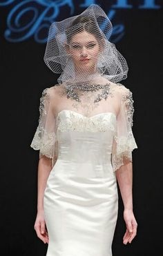 Super Fantastic Birdcage Veil by Badgley Mischka 2015 Collection~~