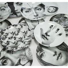 Piero Fornasetti plates, collection of twelve