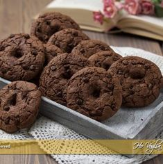 Biscotti Biscuits, Biscotti Cookies, Recipe Images, Something Sweet, Chocolate Recipes, Sweet Recipes, Cookie Recipes, Cacao, Food And Drink