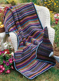 Reversible Rainbow, part of Crochet!'s FREE Afghan & Throws Pattern of the Month. Get the download here: http://www.crochetmagazine.com/monthly_project.php?series_id=4&source=fcebkcc