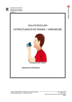 Estructura : hIde frases verb beure by silvia via slideshare National Language, Dory, Valencia, Education, Frases, Kids Psychology, School, Multiplication Chart Printable, Special Education