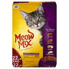 Cats Food - Meow Mix Original Choice Dry Cat Food, 22 Lb - Contains 1 - 22 Lb Bag Complete And Balanced Nutrition Provides All Essential Vitamins And Minerals High Quality Protein To Help Support Strong, Healthy Muscles Made In The Usa Best Cat Food, Dry Cat Food, Purina Friskies, Cat Store, Complete Nutrition, Cat Nutrition, Cool Cats, Dog Food Recipes, Pet Supplies