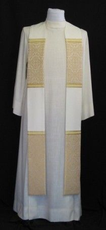 Stole with White Brocade