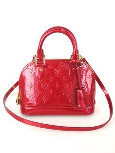 Louis Vuitton Alma BB Vernis Pomme D'Amour Bag |  www.SocialiteAuctions.com