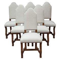 1920s Set Of Six Spanish Revival Side Chairs | From a unique collection of antique and modern chairs at http://www.1stdibs.com/furniture/seating/chairs/