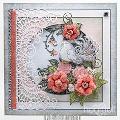 Dove And Roses card w/ Classic Wedding collection from #Heartfeltcreations