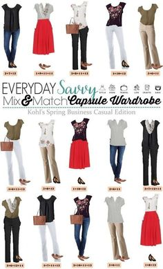 The Business Casual Wardrobe Checklist | Business casual, Wardrobes