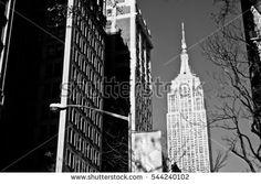 New York City, Manhattan buildings background view