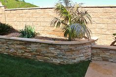 stone walls landscaping | Stone retaining wall, Landscaping