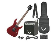 Dean Electric Guitar Starter Pack with Vendetta XMT Metalic Red, 10 Watt Amp, Gig Bag, Cord, Strap, Picks by Dean Guitars. $189.00