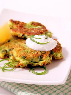 Russian Zucchini Pancakes ***There is flour in the recipe so it is NOT GF! Make sure to substitute with an appropriate GF flour. Corn meal/corn starch/corn flour works well - I have used instant grits and it works just fine; oats made into flour should work well, too!