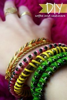 Easy friendship bracelets. Homemade gifts