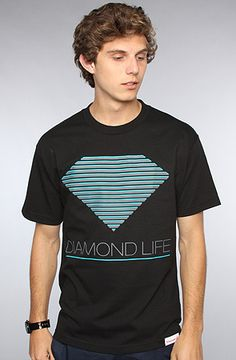 #karmaloop Diamond Supply Co. The Retro Tee in Black / Save 20% off your Karmaloop.com purchase or 10% off your PLNDR.com purchase using rep code: KLOOP101