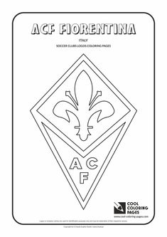 ACF Fiorentina logo coloring / Coloring page with ACF Fiorentina logo / ACF…