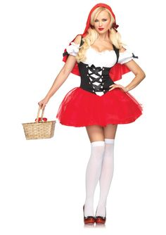 Sexy Red Riding Hood Tutu Dress Costume Adult
