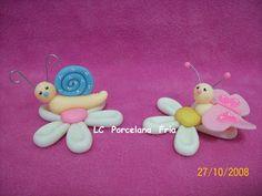Una dulzura... Portamensaje/Portafoto Caracoles y mariposas