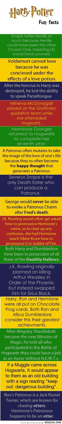 Interesting at the Time: Harry Potter Fun Facts  * I love Harry Potter! *