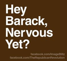 The American People are coming, Barry...