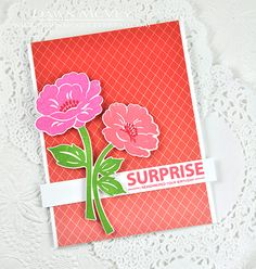 Surprise Card by Dawn McVey for Papertrey Ink (July 2015)