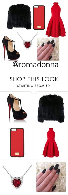 """@romadonna I wish that you like it"" by nana-farhat ❤ liked on Polyvore featuring Christian Louboutin, H Brand, Dolce&Gabbana and Miss Selfridge"
