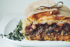 Vegan Thanksgiving Pot Pie Roast/Pate en Crout (switch lentils for some ground beef/sausage/diced turkey.)
