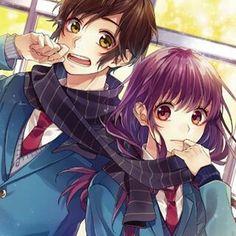 28 Ideas Drawing Love Word For 2019 Koi, Anime Love Couple, Cute Anime Couples, Love Illustration, Botanical Illustration, Zutto Mae Kara, Honey Works, Ecchi, Anime Kawaii