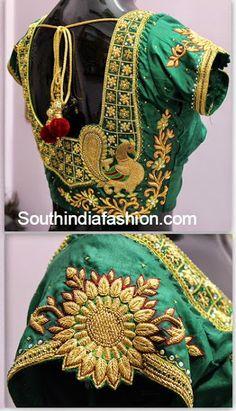 zardosi work blouse for kanjeevaram sarees