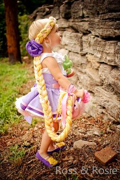 Rapunzel Inspired Dress Up Hair Braid por rossandrosiedesigns