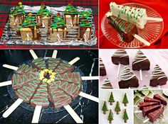 Cheesecake Christmas Trees on a Stick!