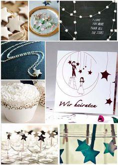 Sternenlicht gehört zu Weihnachten dazu und ist auch für eine Hochzeit ein tolles Thema: Folgt Eurem Stern! :)