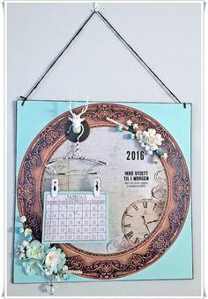 Kalender- Tips til en enkel julegave med tutorial Vintage World Maps, Tips, Calendar, Creative, Counseling