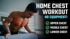 The Best At Home Chest Workout For Growth (NO EQUIPMENT) Want to learn how to grow your chest from home? Today I'll show you the best science-based at home chest worko Chest Workout For Men, Home Workout Men, Home Workout Videos, Chest Workouts, Fun Workouts, At Home Workouts, Home Chest Workout, Workout Tips, Arm Workouts Without Weights
