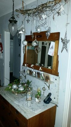 Landhaus Silber Weihnachten