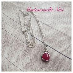 Kette *j'aime roses*, pink und silber von Mademoiselle Nini auf DaWanda.com