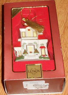 Lenox 2006 Victorian House Christmas Ornament Holiday Home