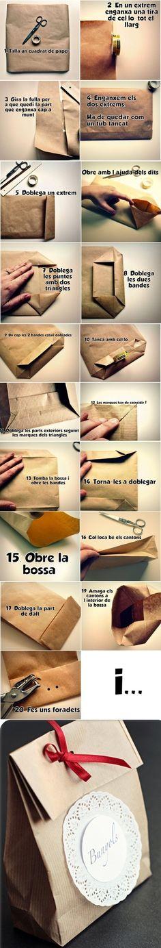 DIY Cute Paper Bag For Gift
