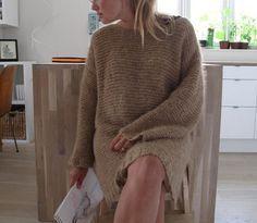 """Skappeltrui breien, deel 2: Na het eerste inspiratie blog over de """"luie wijvensteek"""", gebruikt voor de skappeltrui, nu een vervolg: het patroon."""
