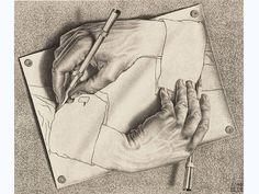 """Obra """"Desenhando"""", de M.C. Escher, parte de exposição em São Paulo"""