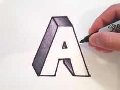 How to Draw the Letter A in 3D - YouTube