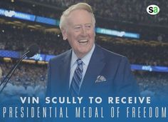 To vin scully on being awarded the highest civilian honor