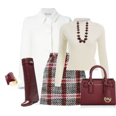 outfit 3141 by natalyag on Polyvore featuring RED Valentino, Carven, Givenchy, Michael Kors, Iradj Moini, women's clothing, women's fashion, women, female and woman
