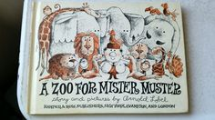 1962 A Zoo For Mister Muster by Arnold Lobel, First Edition Hardcover, Vintage Children's Book, Zoo Animals, 60's Storybook, Harper & Row