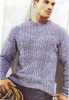Мужской меланжевый вязаный пуловер