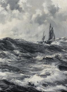 commanderspook:  laclefdescoeurs  The Captain Slocum- Spray, Montague Dawson
