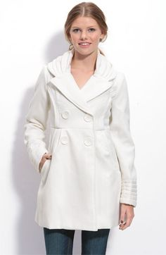 Jolt Pleated Coat With Pleated Collar & Sleeves (Juniors)   Nordstrom - StyleSays