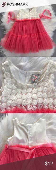 🌹Sara Sara Neon Pink Rose Soutache & Tulle Dress 🌹Sara Sara Neon Pink Rose Soutache & Tulle Dress Sara Sara Neon Dresses Formal