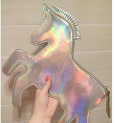 Fashion unique design laser cute unicorn diamond shape envelope package