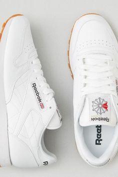 AEO Reebok Classic Leather Sneakers, Men's, Size: 10, White