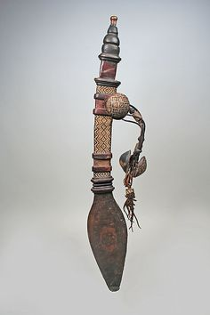 Sword and Sheath, 20th century. Mali. Mande peoples. The Metropolitan Museum of Art, New York. Gift of Claire E. Mebel and Frederick R. Mebel, 1993 (1993.521a, b) #sword