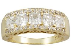 Bella Luce (R) 3.30ctw 18k Yellow Gold Over Sterling Silver Ring